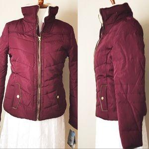 Jackets & Blazers - NWT. Burgundy Puffer Jacket